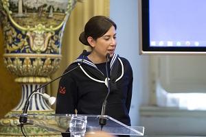 6 - L'intervento di Giorgia Galli, impeigata nella centrale operativa della Guardia Costiera